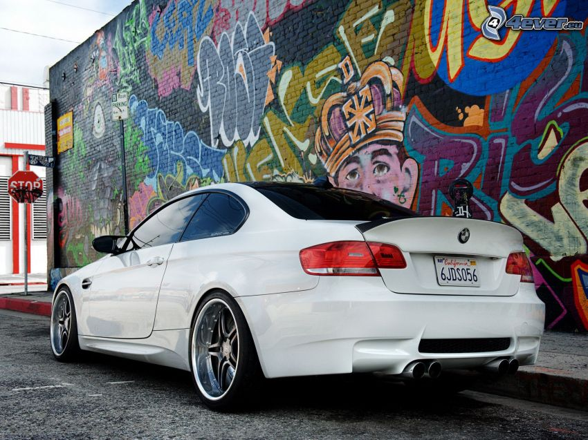 BMW E92, Graffiti