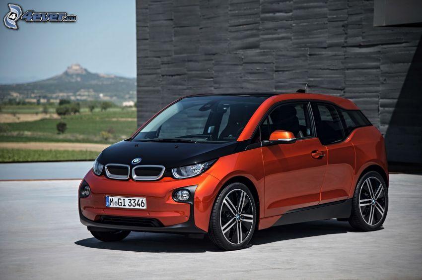 BMW i3, Wand, Hügel