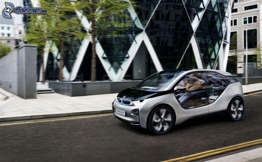 BMW i3 Concept, Straße, Gebäude