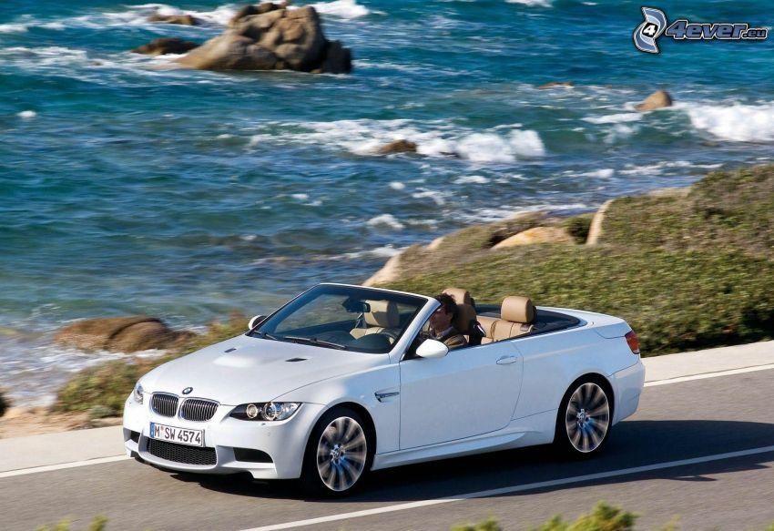 BMW M3, Cabrio, Geschwindigkeit, Felsen im Meer