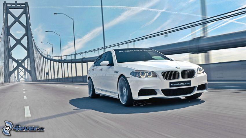 BMW M5, Brücke, Straße, Bay Bridge