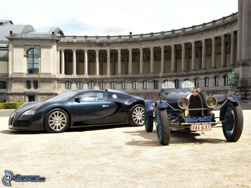 Bugatti Veyron, Oldtimer, Gebäude