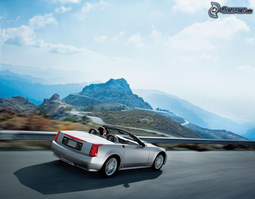 Cadillac XLR, Cabrio, Geschwindigkeit, Aussicht auf die Landschaft, Hügel