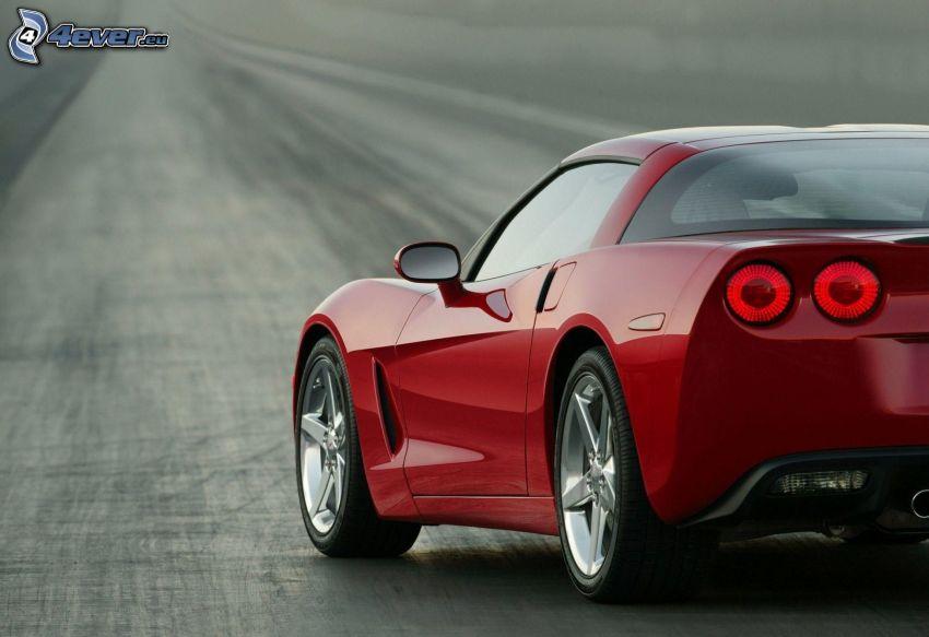 Chevrolet Corvette, Rücklicht, gerade Strasse