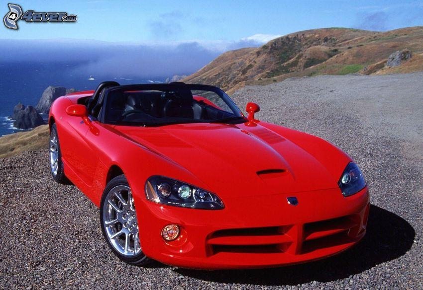 Dodge Viper, Cabrio, Aussicht auf die Landschaft