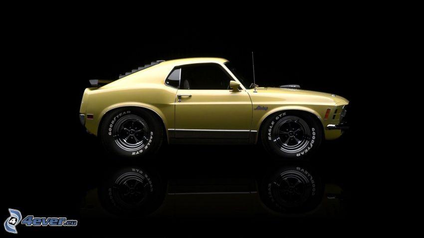 Ford Mustang Mach 1, Oldtimer, Miniatur