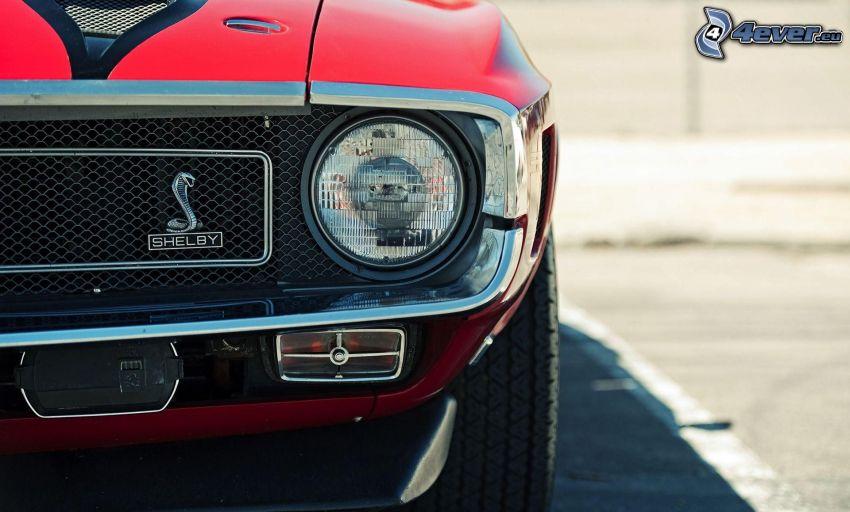 Ford Mustang Shelby, Oldtimer, Reflektor, Vorderteil