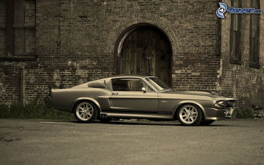 Ford Mustang Shelby GT500, Oldtimer, Altbau