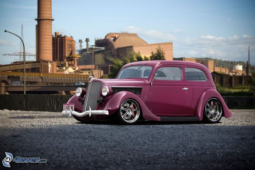 Ford V8, Oldtimer, lowrider, Fabrik