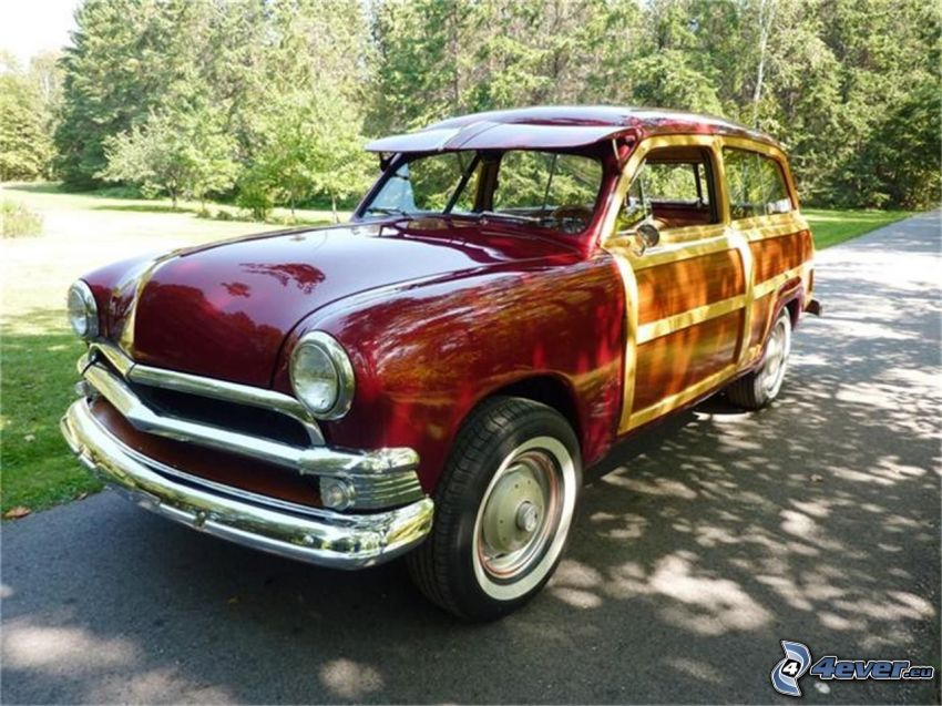 Ford Woody, Oldtimer, Park
