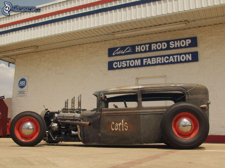 Hot Rod, Oldtimer, Gebäude