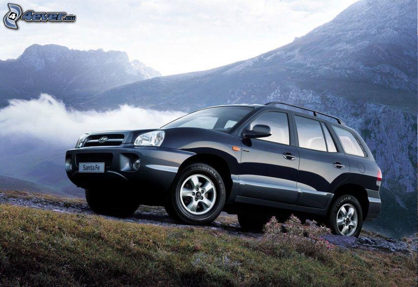 Hyundai Santa Fe, SUV, felsige Berge