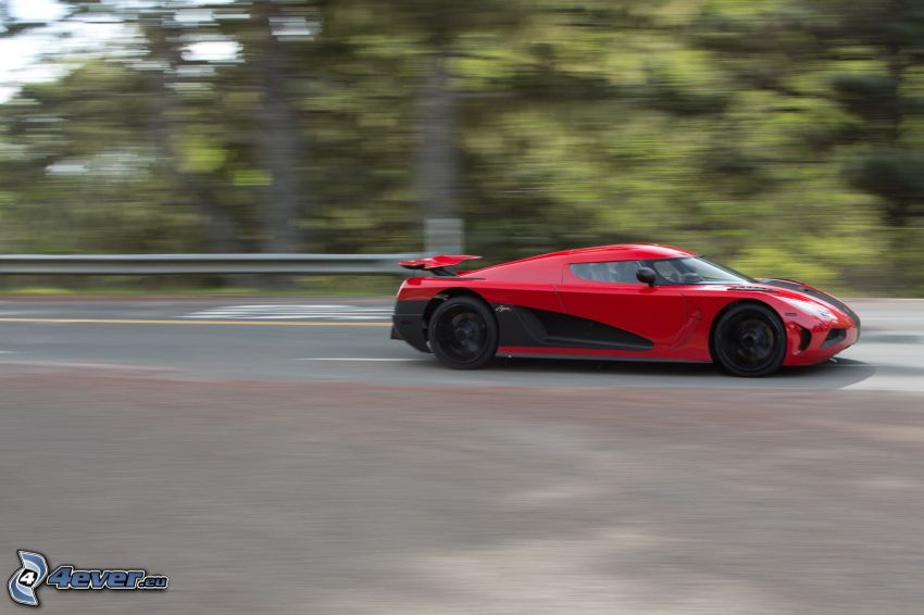 Koenigsegg Agera R, Geschwindigkeit