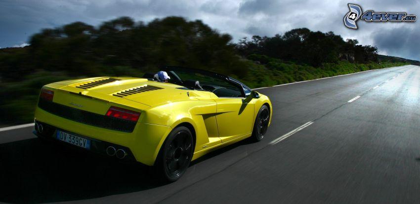 Lamborghini Gallardo, Cabrio, Geschwindigkeit