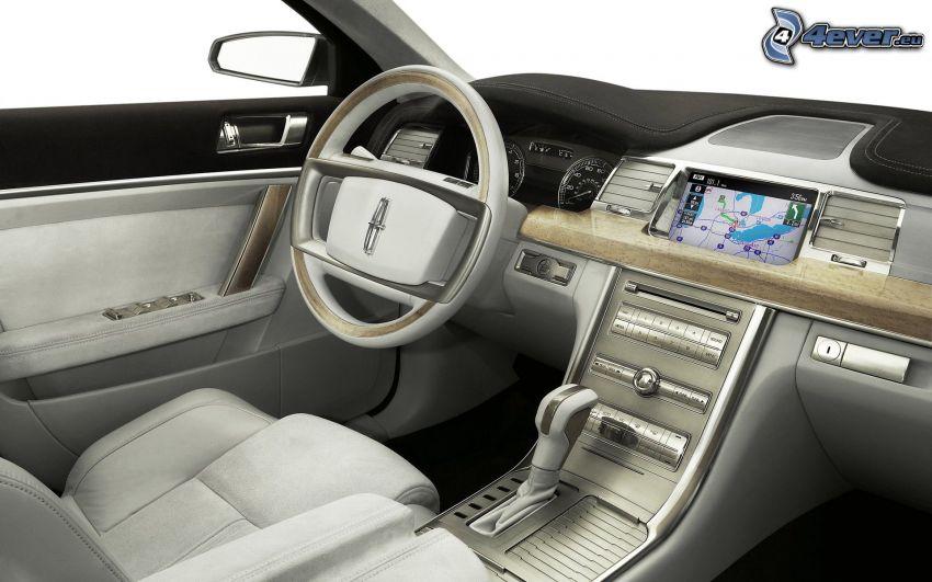 Lincoln MKS, Innenraum, Lenkrad, Armaturenbrett