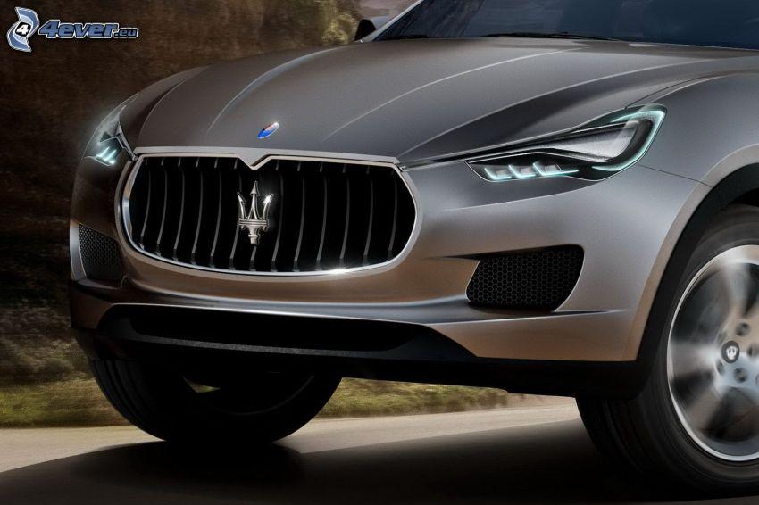 Maserati Kubang, Motorhaube