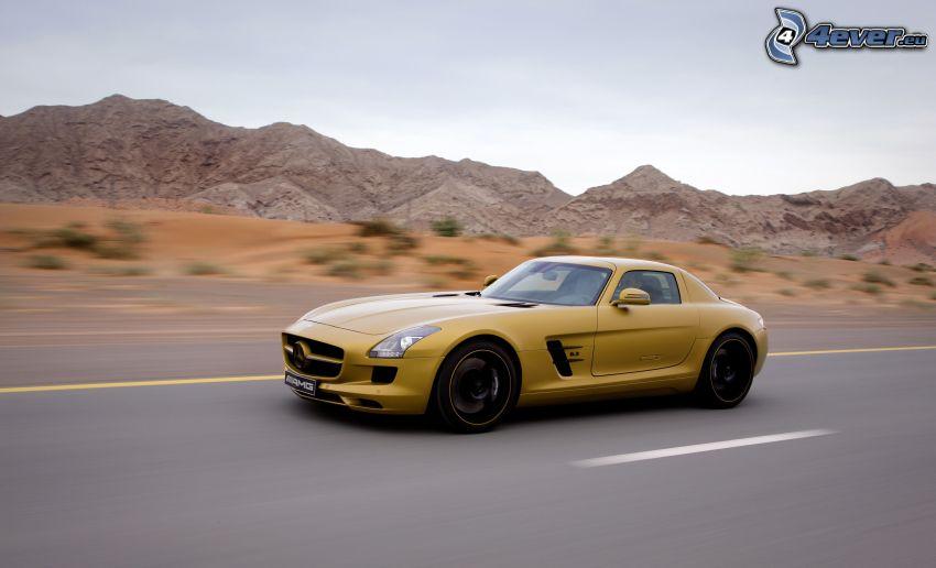 Mercedes-Benz SLS AMG, Geschwindigkeit, Straße, Hügel