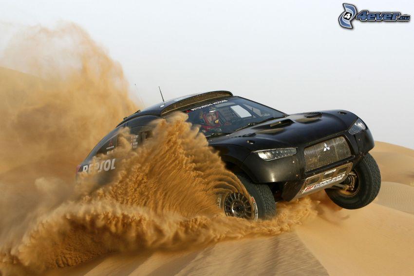 Mitsubishi Lancer, Geländewagen, Sand
