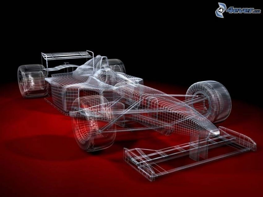 monoposto, Formel 1, Linien