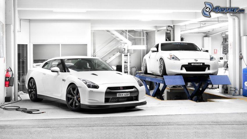 Nissan GT-R, Nissan 370Z, Werkstatt