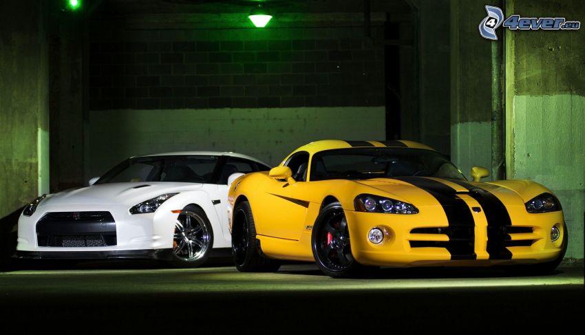 Nissan GTR, Dodge Viper