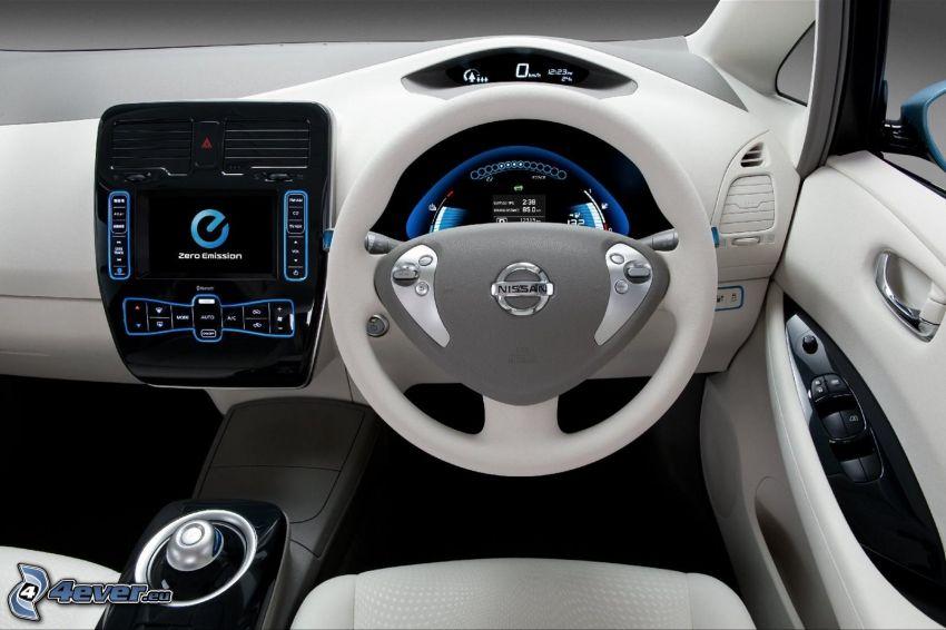 Nissan Leaf, Innenraum, Armaturenbrett, Lenkrad