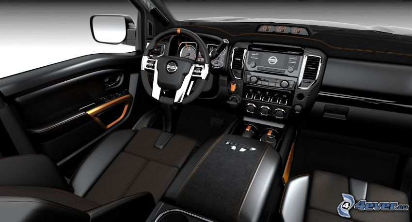 Nissan Titan, Innenraum, Armaturenbrett, Lenkrad