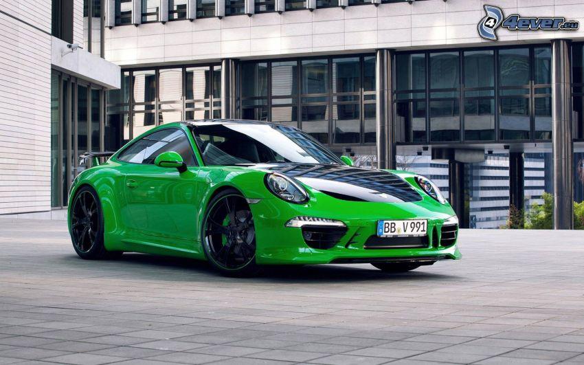 Porsche 911, Gebäude, Bürgersteig