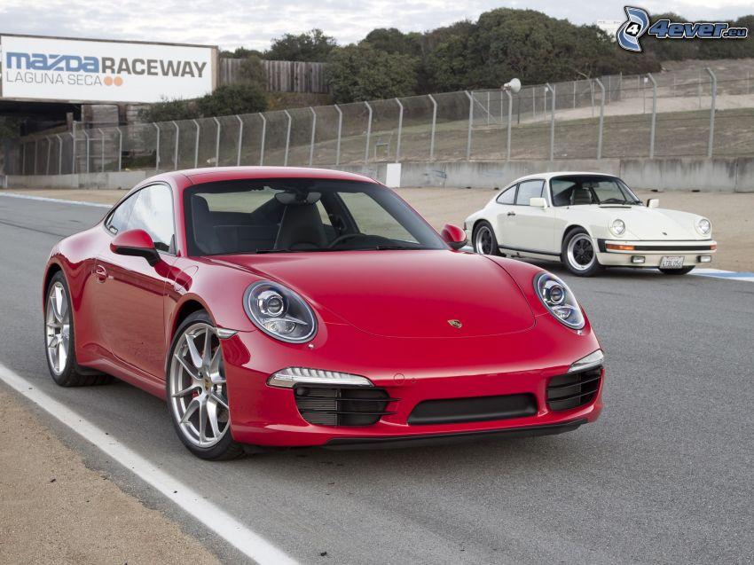 Porsche 911, Oldtimer, Straße