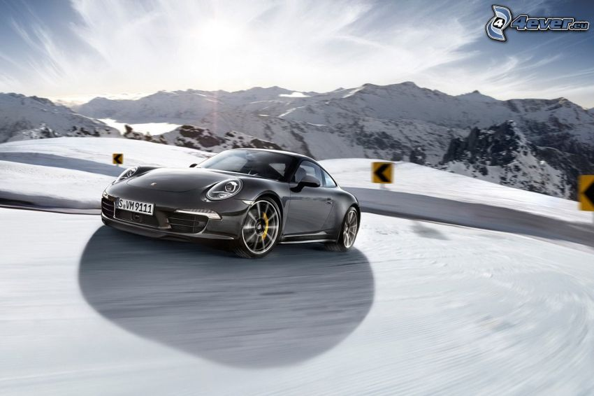 Porsche 911, Schnee, Berge