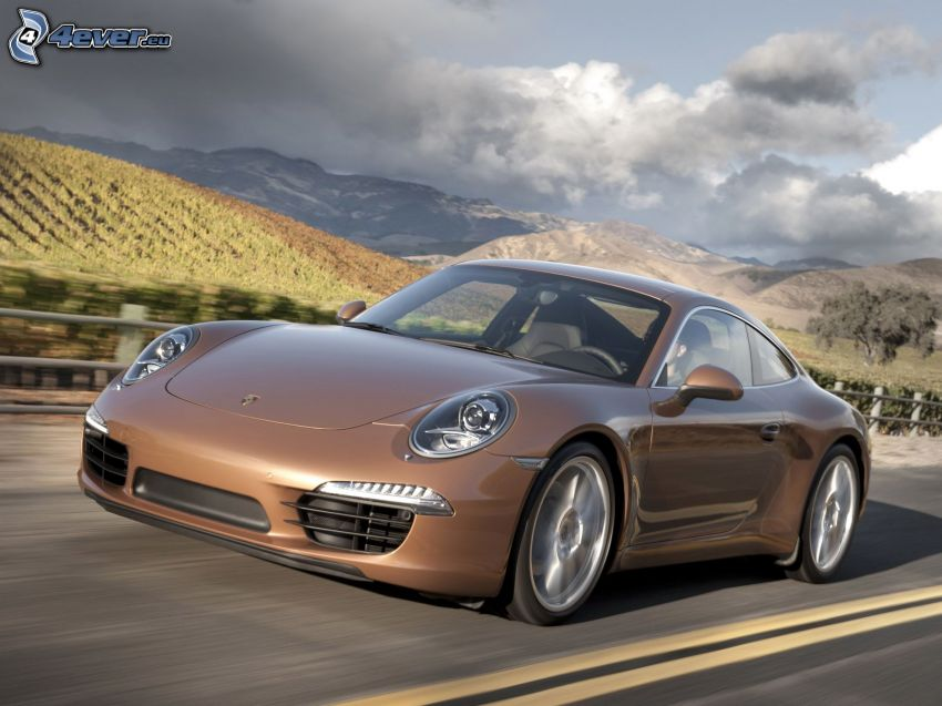 Porsche 911, Straße, Weinberg, Berge