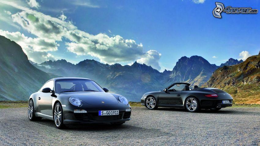 Porsche 911 Carrera, Cabrio, felsige Berge