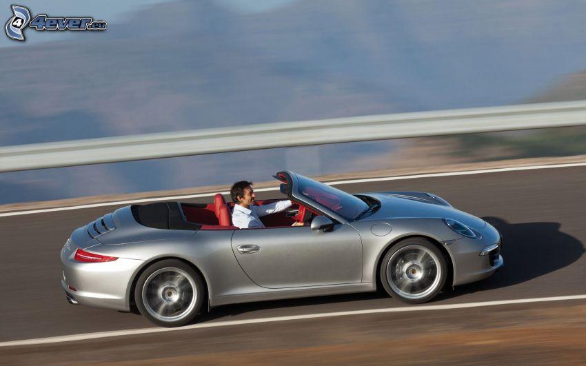 Porsche 911 Carrera S, Cabrio, Geschwindigkeit, Mann