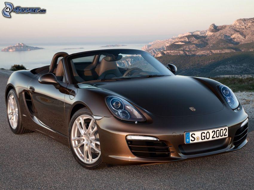 Porsche Boxster, Cabrio, Berge, Meer