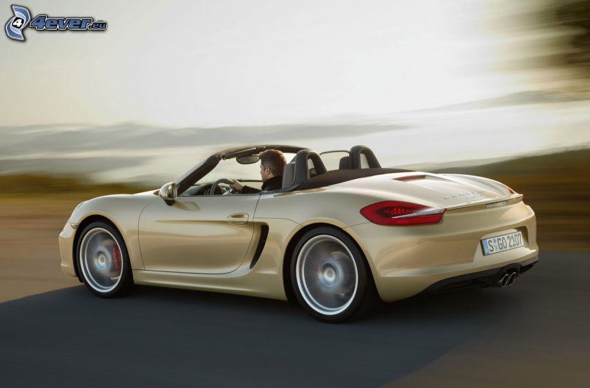 Porsche Boxster, Cabrio, Geschwindigkeit, Mann