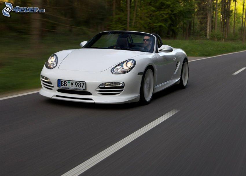 Porsche Boxster, Cabrio, Straße, Geschwindigkeit, Mann
