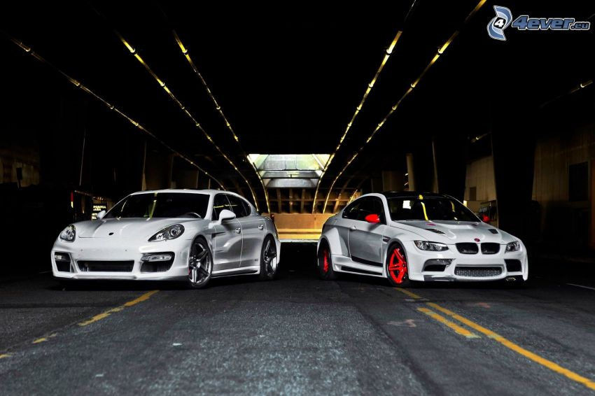 Porsche Panamera, BMW, Tunnel