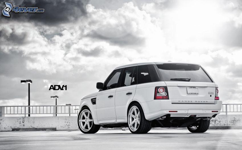 Range Rover, Himmel, Wolken