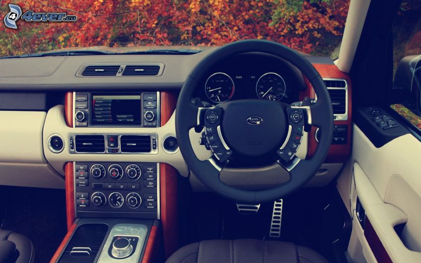 Range Rover, Innenraum, Lenkrad
