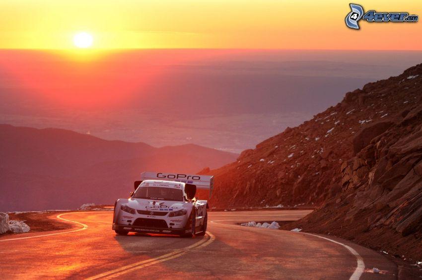 Suzuki, Berge, Sonnenuntergang, Rennen