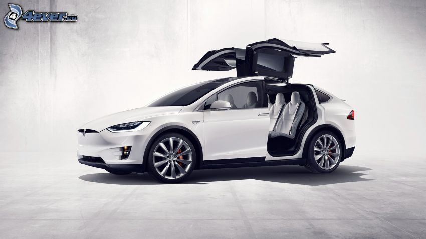 Tesla Model X, Tür, falcon doors