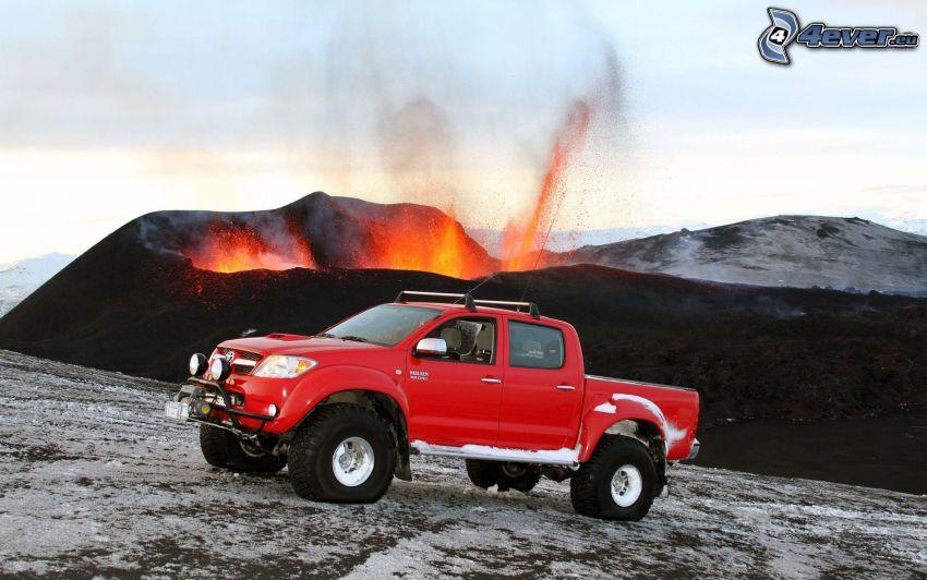 Toyota Hilux, Vulkan, Explosion