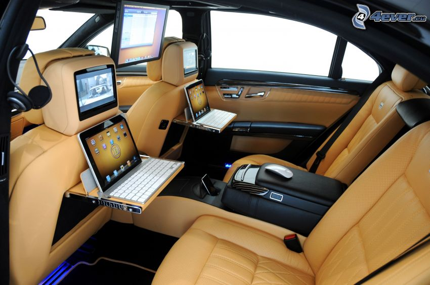 Mercedes Brabus, Innenraum, Luxus, TV, Computers