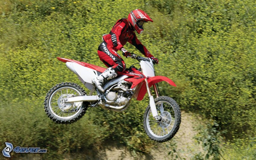 motocross, Sprung auf den Motorräd