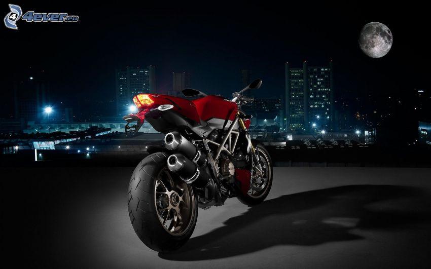Ducati, Nacht, Mond, City