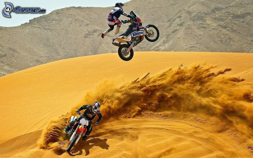 motocross, Motorräder, Sprung, Sand