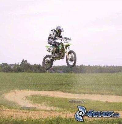 motocross, Sprung auf den Motorräd, Motorrad
