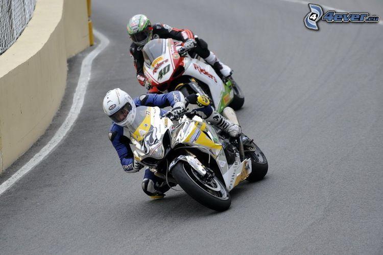 Rennen, Wettkämpfer, Motorräder, Rennstrecke