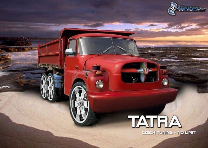 Tatra, virtual tuning, Meer, Abendhimmel