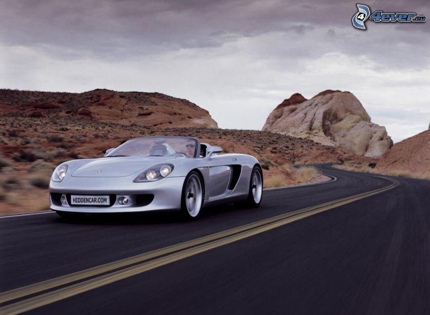 Porsche Carrera GT, Straße, Wüste